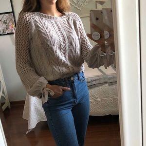Express bell sleeve sweater